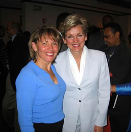 Owner Patti Ann Moskwa and Governor Jennifer Granholm